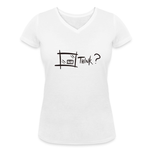 Think Outside The Box - Women's Organic V-Neck T-Shirt by Stanley & Stella