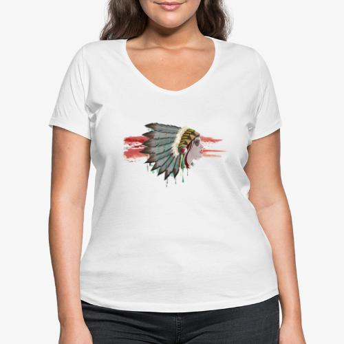 Native american - T-shirt bio col V Stanley & Stella Femme