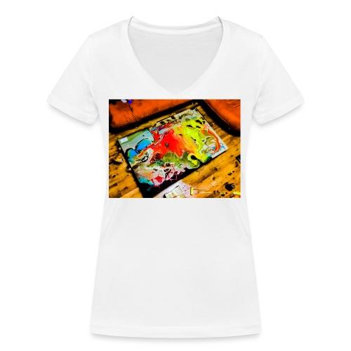 Love hope peace - Ekologiczna koszulka damska z dekoltem w serek Stanley & Stella