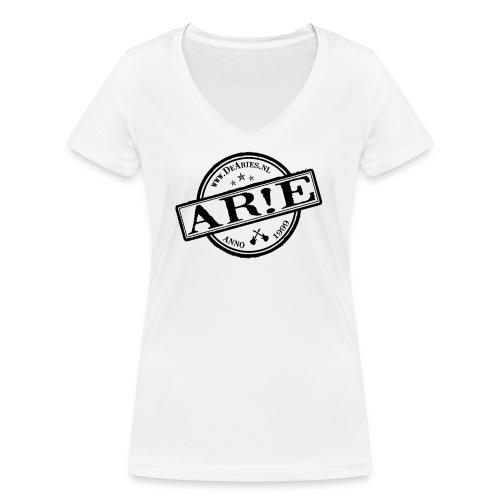 Backdrop AR E stempel zwart gif - Vrouwen bio T-shirt met V-hals van Stanley & Stella