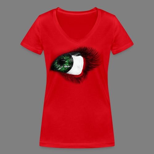 Auge 1 - Frauen Bio-T-Shirt mit V-Ausschnitt von Stanley & Stella