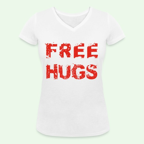 Free Hugs // Flirten // T-Shirt - Frauen Bio-T-Shirt mit V-Ausschnitt von Stanley & Stella