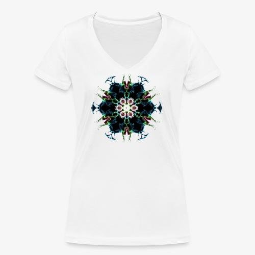 3D design create by self - Women's Organic V-Neck T-Shirt by Stanley & Stella