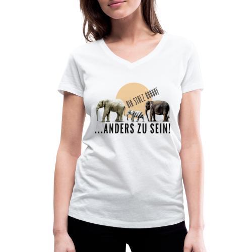 Stolz anders zu sein - Frauen Bio-T-Shirt mit V-Ausschnitt von Stanley & Stella