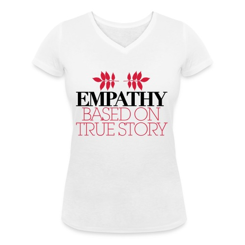 empathy story - Ekologiczna koszulka damska z dekoltem w serek Stanley & Stella