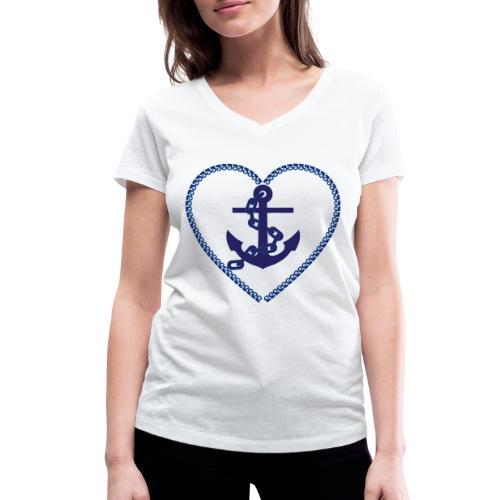 anchor - Anker - Frauen Bio-T-Shirt mit V-Ausschnitt von Stanley & Stella