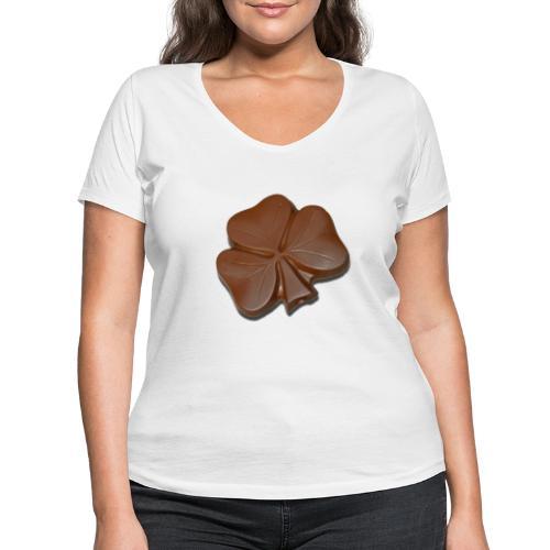 Chocolate Shamrocks - Women's Organic V-Neck T-Shirt by Stanley & Stella