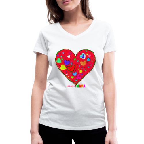 HerzensMama - Frauen Bio-T-Shirt mit V-Ausschnitt von Stanley & Stella
