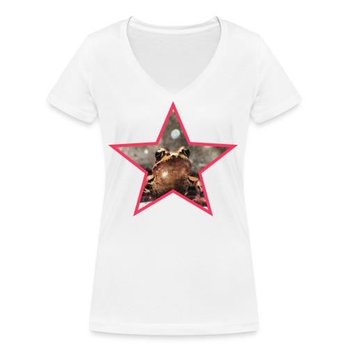 Frog Star - Ekologiczna koszulka damska z dekoltem w serek Stanley & Stella