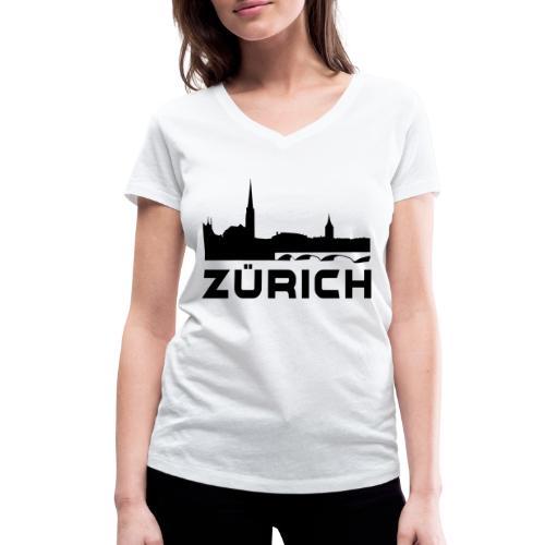 Zürich - Frauen Bio-T-Shirt mit V-Ausschnitt von Stanley & Stella