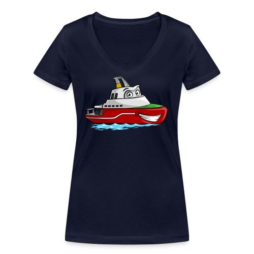 Boaty McBoatface - Women's Organic V-Neck T-Shirt by Stanley & Stella