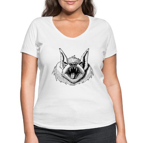 Fledermaus - Frauen Bio-T-Shirt mit V-Ausschnitt von Stanley & Stella