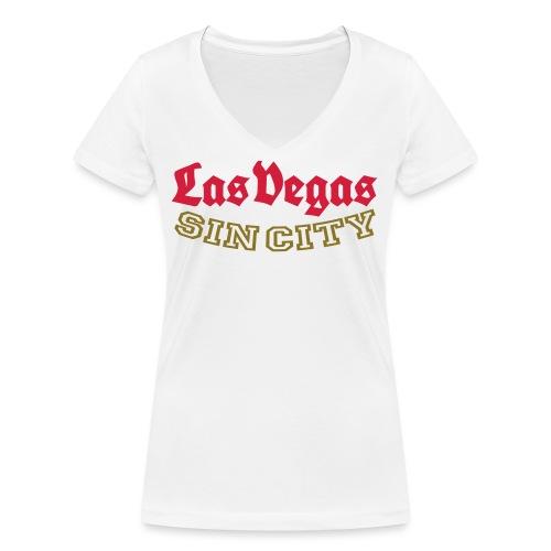 LAS VEGAS SIN CITY - Women's Organic V-Neck T-Shirt by Stanley & Stella