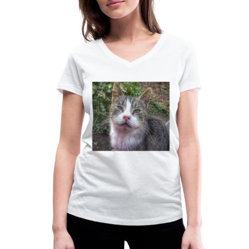 Katze Max - Frauen Bio-T-Shirt mit V-Ausschnitt von Stanley & Stella