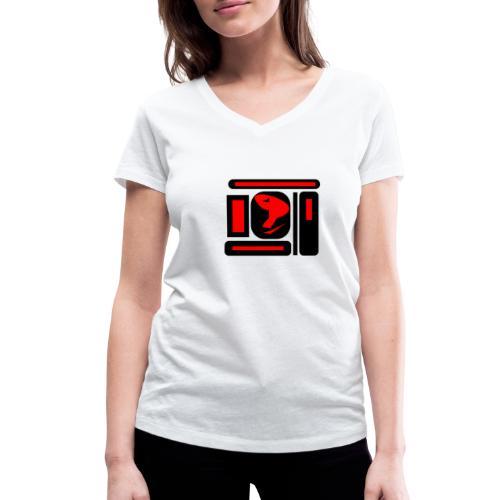 black and red hot P - Frauen Bio-T-Shirt mit V-Ausschnitt von Stanley & Stella