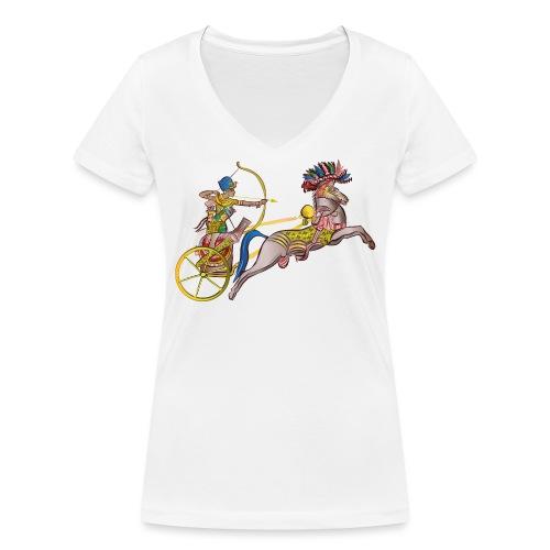 Pharao mit Streitwagen - Frauen Bio-T-Shirt mit V-Ausschnitt von Stanley & Stella