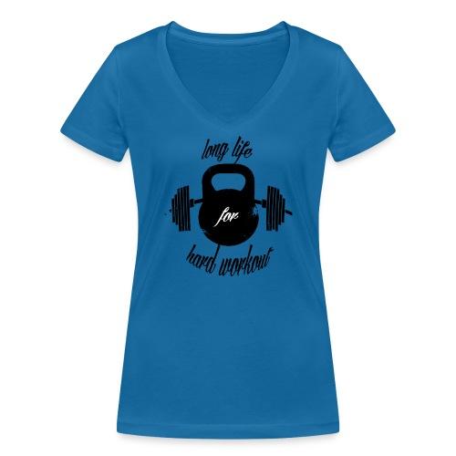 long life for wokrout - T-shirt ecologica da donna con scollo a V di Stanley & Stella