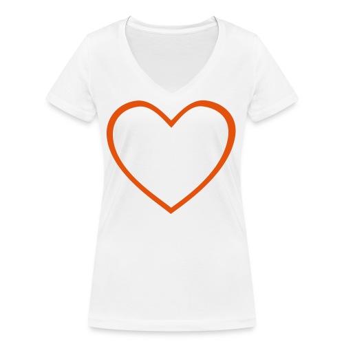 Hjärta 4 - Ekologisk T-shirt med V-ringning dam från Stanley & Stella