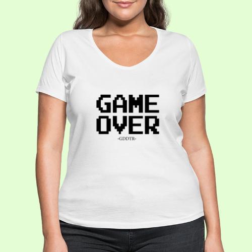 Game Over - Frauen Bio-T-Shirt mit V-Ausschnitt von Stanley & Stella