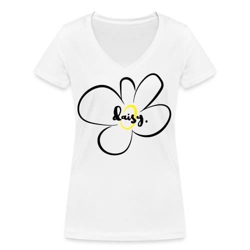 Gänseblümchen - Frauen Bio-T-Shirt mit V-Ausschnitt von Stanley & Stella