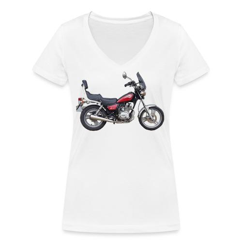 snm daelim vc 125 f advace seite rechts ohne - Frauen Bio-T-Shirt mit V-Ausschnitt von Stanley & Stella