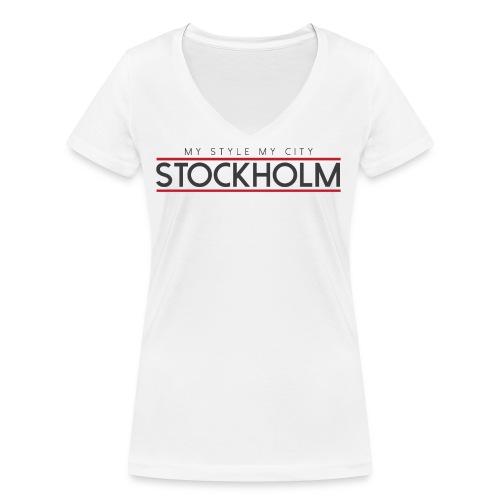 MY STYLE MY CITY STOCKHOLM - Women's Organic V-Neck T-Shirt by Stanley & Stella