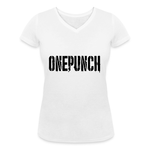 Boxing Boxing Martial Arts mma tshirt one punch - Women's Organic V-Neck T-Shirt by Stanley & Stella