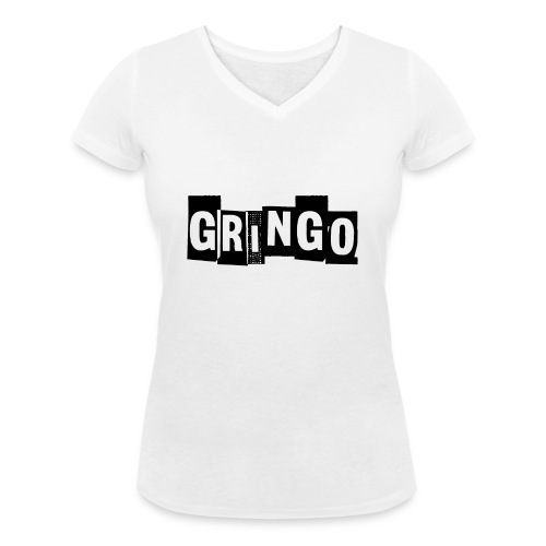 Cartel Gangster pablo gringo mexico tshirt - Women's Organic V-Neck T-Shirt by Stanley & Stella