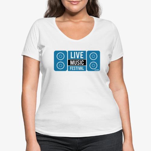 Sound 005 - Camiseta ecológica mujer con cuello de pico de Stanley & Stella