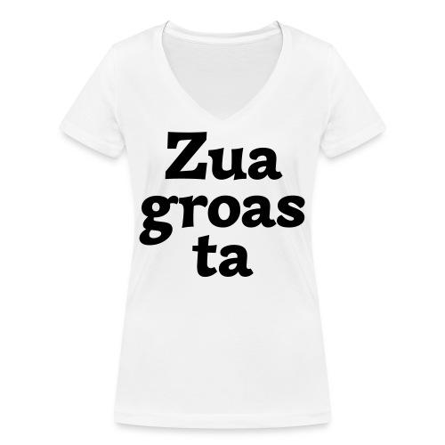 Zuagroasta - Frauen Bio-T-Shirt mit V-Ausschnitt von Stanley & Stella