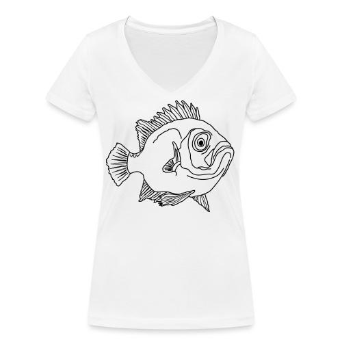 Fisch Barsch Ozean Meer Wasser Aquarium Angeln - Frauen Bio-T-Shirt mit V-Ausschnitt von Stanley & Stella