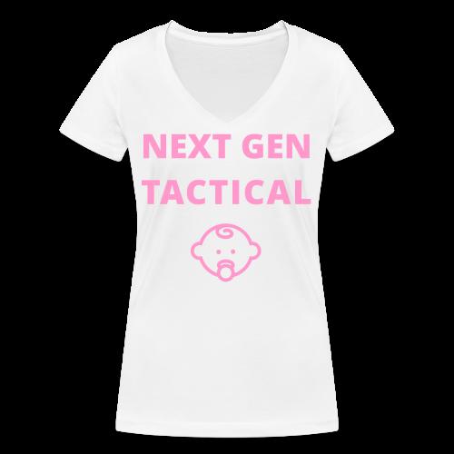 Tactical Baby Girl - Vrouwen bio T-shirt met V-hals van Stanley & Stella
