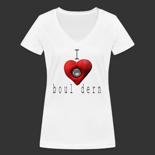 I love bouldern - Frauen Bio-T-Shirt mit V-Ausschnitt von Stanley & Stella