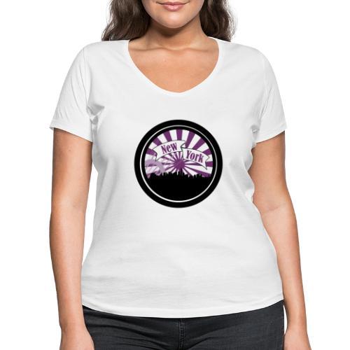 New York City - T-shirt bio col V Stanley & Stella Femme