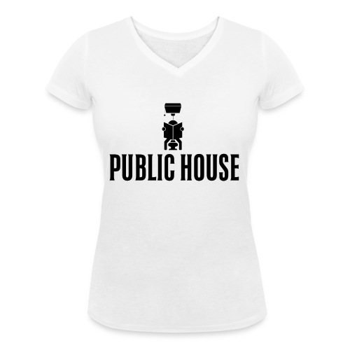 Official Women Shit by Public House - Women's Organic V-Neck T-Shirt by Stanley & Stella