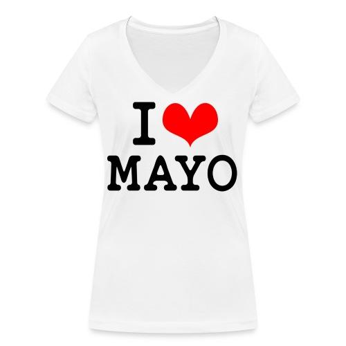 I Love Mayo - Women's Organic V-Neck T-Shirt by Stanley & Stella