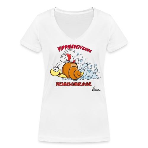 rennschnegge - Frauen Bio-T-Shirt mit V-Ausschnitt von Stanley & Stella