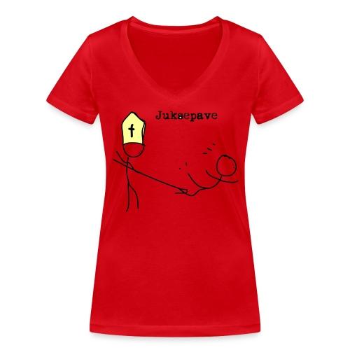 juksepave png - Økologisk T-skjorte med V-hals for kvinner fra Stanley & Stella