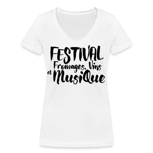 Festival FVM - T-shirt bio col V Stanley & Stella Femme