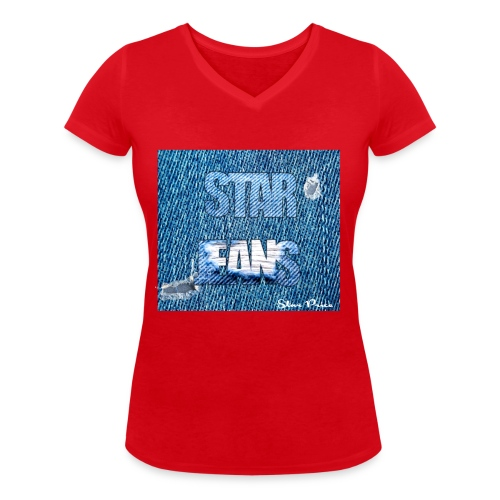 JEANS STAR PRICE - Women's Organic V-Neck T-Shirt by Stanley & Stella