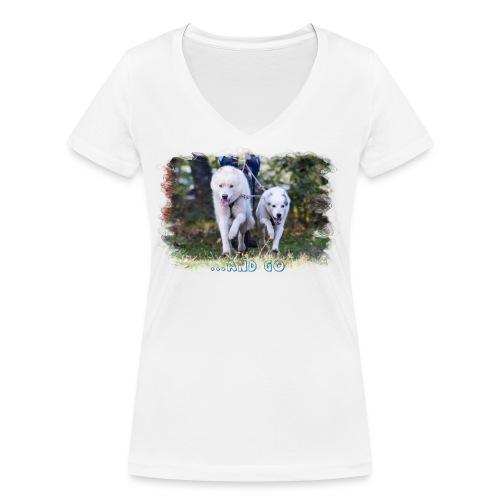 ...and Go - Frauen Bio-T-Shirt mit V-Ausschnitt von Stanley & Stella
