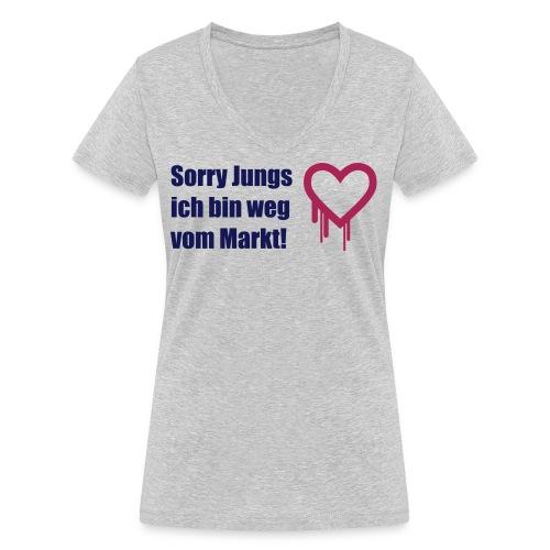 sorry jungs - bin weg vom - Frauen Bio-T-Shirt mit V-Ausschnitt von Stanley & Stella