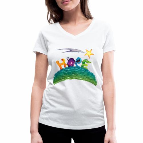 Hope - Women's Organic V-Neck T-Shirt by Stanley & Stella