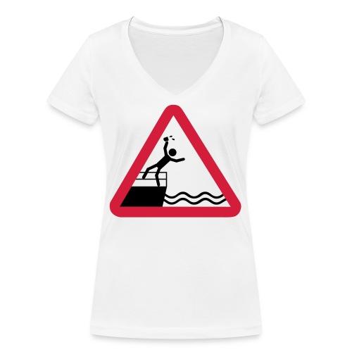 Bitte kein Bier Verschütten! - Frauen Bio-T-Shirt mit V-Ausschnitt von Stanley & Stella