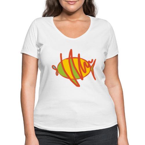 fish - Frauen Bio-T-Shirt mit V-Ausschnitt von Stanley & Stella