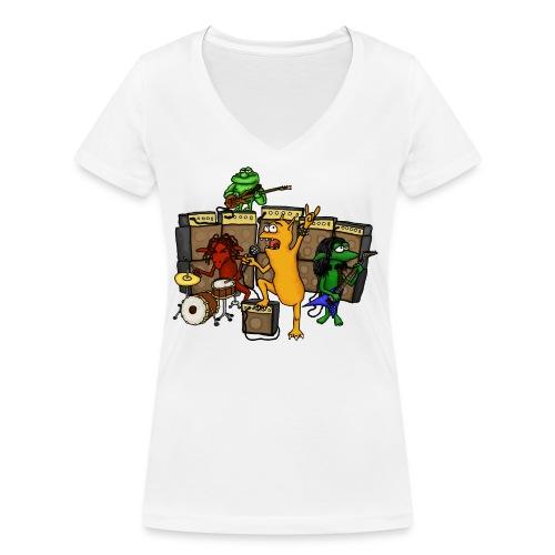 Kobold Metal Band - Women's Organic V-Neck T-Shirt by Stanley & Stella