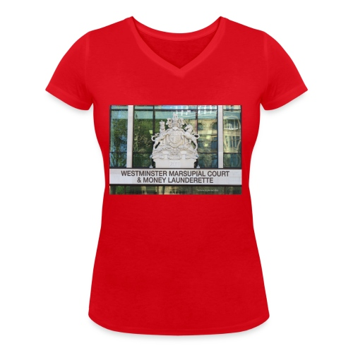 Court of Contempt - Women's Organic V-Neck T-Shirt by Stanley & Stella