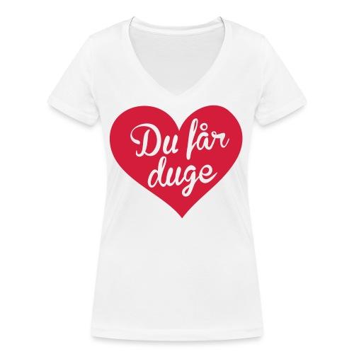 Ekte kjærlighet - Det norske plagg - Økologisk T-skjorte med V-hals for kvinner fra Stanley & Stella