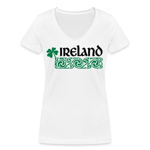Ireland - Vrouwen bio T-shirt met V-hals van Stanley & Stella