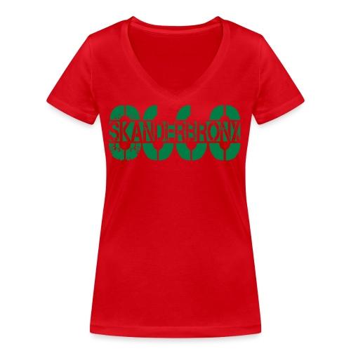 SKANDERBRONX - Økologisk Stanley & Stella T-shirt med V-udskæring til damer